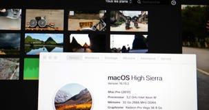 Ongeveer deze MAC-informatie van nieuwe krachtige Prowo van Apple iMac stock video