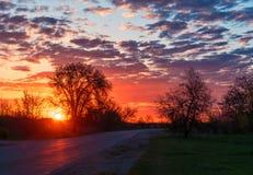 Ongeveer ochtendwolken stock afbeelding