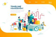 Ongeveer Ons Bedrijf Team Info Template vector illustratie