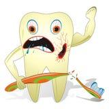 Ongezonde en Vijandige Tand Stock Foto