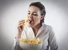 Ongezonde kost Stock Foto's