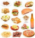 Ongezonde kost Stock Afbeeldingen