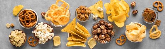 Ongezonde Snacks stock foto's