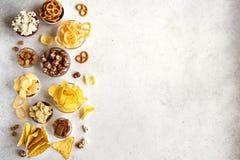 Ongezonde Snacks royalty-vrije stock afbeeldingen