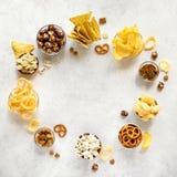 Ongezonde Snacks stock foto