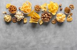 Ongezonde Snacks royalty-vrije stock foto's