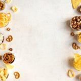 Ongezonde Snacks royalty-vrije stock fotografie