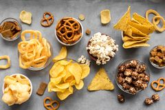 Ongezonde Snacks royalty-vrije stock afbeelding