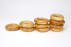 Ongezuurde broodjes Royalty-vrije Stock Fotografie