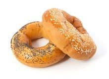 Ongezuurde broodjes Stock Afbeeldingen