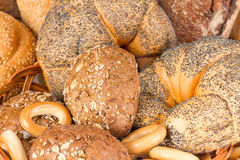 Ongezuurde broodjes en brood royalty-vrije stock foto's