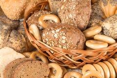 Ongezuurde broodjes en brood royalty-vrije stock fotografie