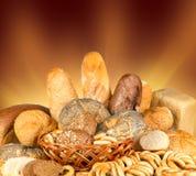 Ongezuurde broodjes en brood royalty-vrije stock afbeeldingen