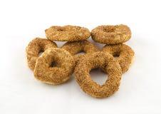 Ongezuurde broodjes voor ontbijt Stock Fotografie