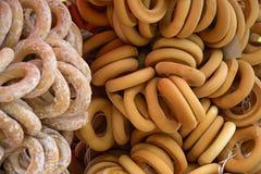 Ongezuurde broodjesongezuurde broodjes Stock Afbeelding