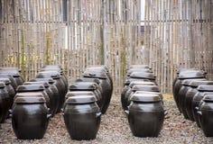 Onggi - koreanische Tonwaren stockfoto