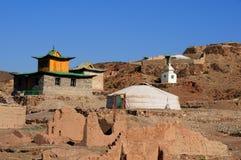 Ongi Buddhist Monastery/Temple In Mongolia Stock Photo