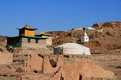 Ongi Buddhist Monastery/Temple in Mongolia Stock Photo