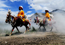 Ongkor Festival in Tibet Stock Images