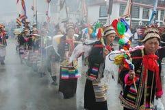Ongkor Festival in Tibet Stock Image