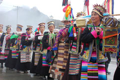 Ongkor Festival in Tibet Stock Photo