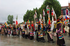 Ongkor Festival in Tibet Stock Photos