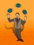 żonglerem Ilustracja Wektor