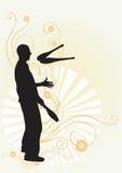 żonglerem Zdjęcie Stock