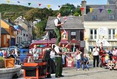 Żonglerka miotacze przy Clifden 2013. Obrazy Royalty Free