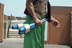 żonglerka szpilki Zdjęcia Royalty Free