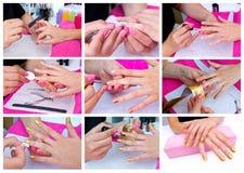 Ongles Manicured de femme image stock