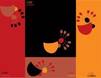 Onglets de café et de thé de vecteur. Images stock