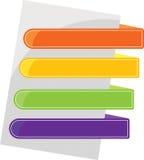 Onglets de couleur Image stock