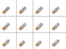 Onglets de site Web Photographie stock libre de droits