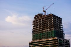 Ongoing Construction Of  A Modern Building royalty free stock photography