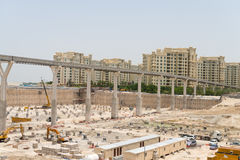 Ongoing development at Atlantis the Palm in Dubai, United Arab E Royalty Free Stock Images