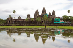 Ongoing restoration works at Angkor Wat Cambodia Stock Photos