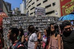 Ongpin gata i Binondo, Manila arkivbilder