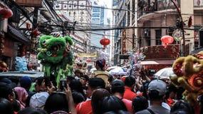 Ongpin gata i Binondo, Manila arkivfoton