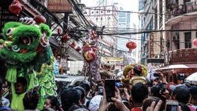 Ongpin gata i Binondo, Manila fotografering för bildbyråer