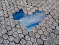 Ongratulations Ð ¡ την ημέρα βαλεντίνων Καρδιά των πετρών Στοκ Φωτογραφίες