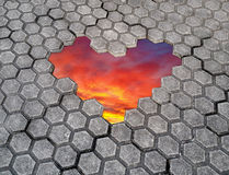Ongratulations de ¡ de Ð le jour de valentines Coeur des pierres Images stock