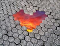 Ongratulations do ¡ de Ð no dia de Valentim Coração de pedras Imagens de Stock