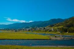 Onguday Χωριό στο Altai Στοκ εικόνα με δικαίωμα ελεύθερης χρήσης