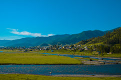 Onguday Dorf im Altai Lizenzfreies Stockbild