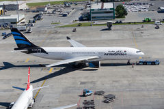 5A-ONH Afriqiyah Airways Airbus A330-202 stock photography