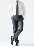 Onherkenbare verzekerde jonge zakenman Royalty-vrije Stock Foto's