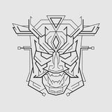 Oni Mask line style royalty free stock images