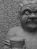 Oni statue. Oni is Japanese for demon. This one was inside a temple in kyoto royalty free stock image