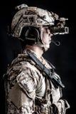 Żołnierza mężczyzna Militarna Kapeluszowa moda Obrazy Stock